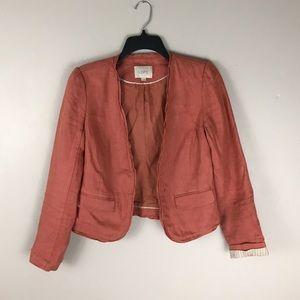 Loft Rust Orange linen blazer jacket